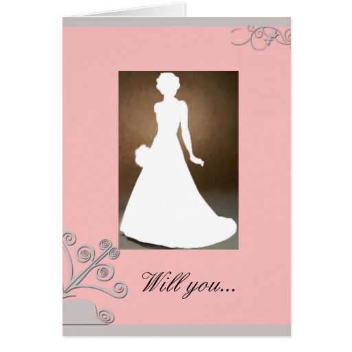 Maid Of Honour Invitation Card