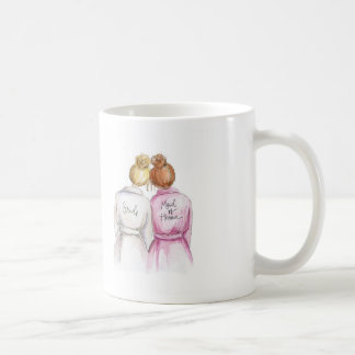 Maid of Honour? Mug Blonde Bun Bride Red Bun Maid