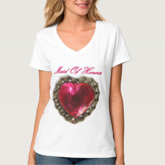 Maid Of Honour Pink Heart T-Shirt