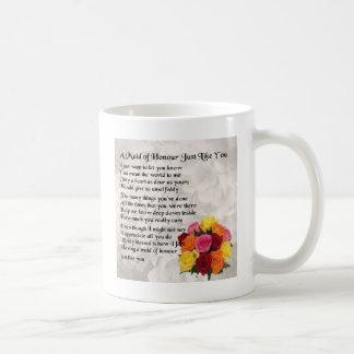 Maid of Honour Poem - Flowers design Coffee Mug
