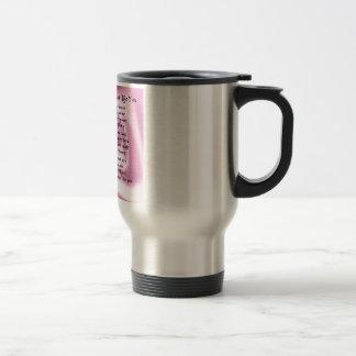 Maid of honour poem - Pink silk Travel Mug