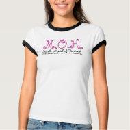 Maid of Honour Wedding T-Shirt - Black White Pink shirt
