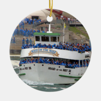 Maid of the Mist Boat: Niagara Falls Double-Sided Ceramic Round Christmas Ornament