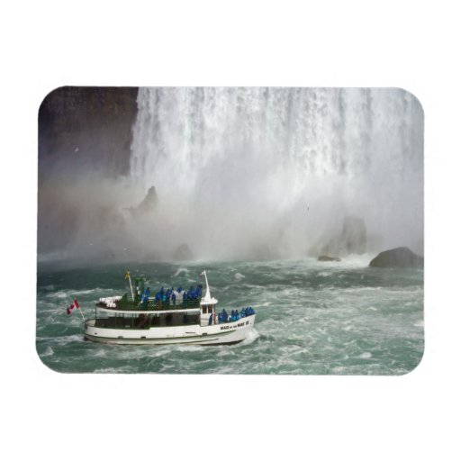 Maid Of The Mist Entering The Falls Rectangular Magnets