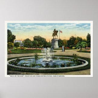 Maid of the Mist Fountain, Washington Statue Poster