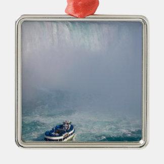 Maid of the Mist Rainbow Niagara Falls, Canada Silver-Colored Square Decoration