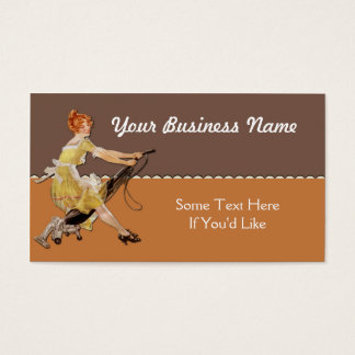 Maid or Cleaning Services Business Card