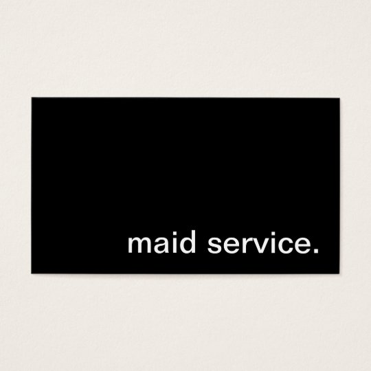 Maid Service Business Card