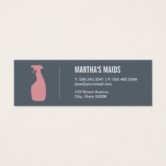 Maid Service Mini Business Card