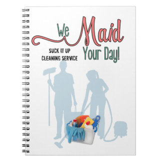 Maid Service or Cleaning Service | Custom Notebook
