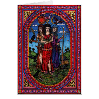 maid to crone, the Morr'igan, Isis and Hecate rb Card