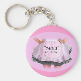 Maid to Serve Keychain