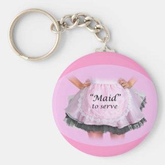 Maid to Serve Key Chains