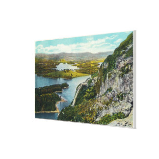 Maiden Cliff View of Lake Megunticook Canvas Print