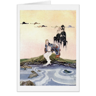 Maiden & Frog ~ French Fairy Tale Art Painting Card