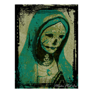 Maiden Hell Inc Day of the Dead Art Print