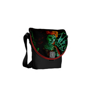 Maiden Hell Inc Day of the Dead Messenger Bag