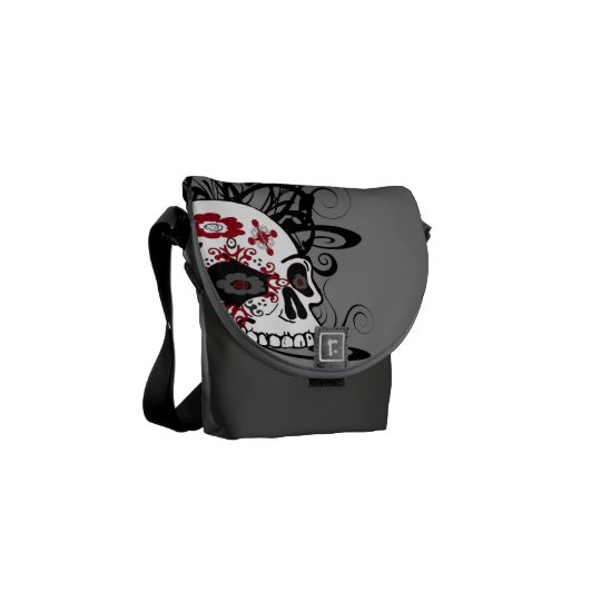 Maiden Hell Inc Day of the Dead Mini Messenger Bag