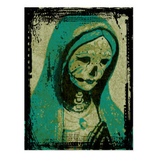 Maiden Hell Inc Day of the Dead Postcard