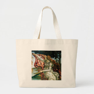 maiden in dress laundry large tote bag