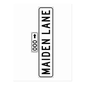 Maiden Lane, San Francisco Street Sign Postcard