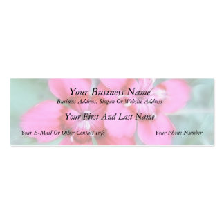 Maiden Pinks Double-Sided Mini Business Cards (Pack Of 20)