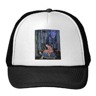Maiden & Turtle ~ French Fairy Tale Art Painting Trucker Hat