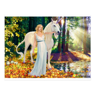 Maiden & Unicorn Healing Postcard