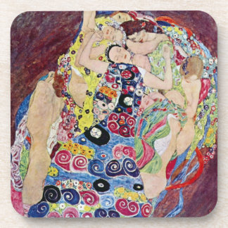 Maiden (Virgin), Gustav Klimt, Vintage Art Nouveau Drink Coasters