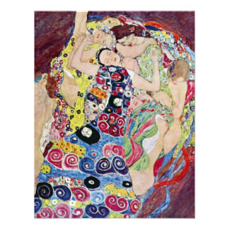 Maiden Virgin Gustav Klimt Vintage Art Nouveau Custom Invitation
