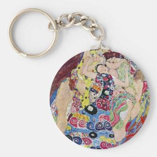 Maiden (Virgin), Gustav Klimt, Vintage Art Nouveau Key Chains