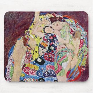 Maiden (Virgin), Gustav Klimt, Vintage Art Nouveau Mouse Pad