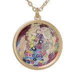 Maiden (Virgin), Gustav Klimt, Vintage Art Nouveau Custom Jewelry