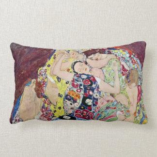 Maiden (Virgin), Gustav Klimt, Vintage Art Nouveau Pillows