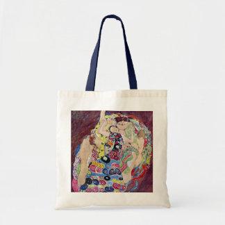Maiden (Virgin), Gustav Klimt, Vintage Art Nouveau Tote Bag