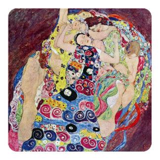Maiden (Virgin), Klimt, Art Nouveau Bridal Shower Card