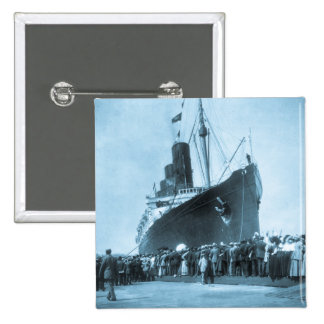 Maiden Voyage of RMS Lusitania, 13 Septemeber 1907 2 Inch Square Button