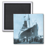 Maiden Voyage of RMS Lusitania, 13 Septemeber 1907 2 Inch Square Magnet
