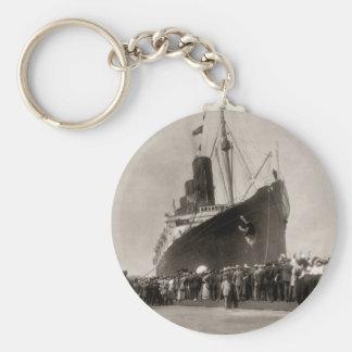 Maiden Voyage of RMS Lusitania, 13 Septemeber 1907 Basic Round Button Keychain