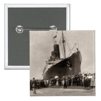 Maiden Voyage of RMS Lusitania 13 Septemeber 1907 Pins