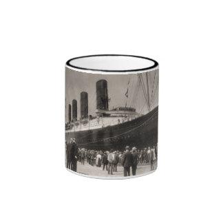 Maiden Voyage of RMS Lusitania, 13 Septemeber 1907 Ringer Coffee Mug