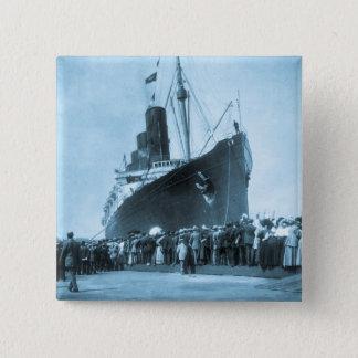 Maiden Voyage of RMS Lusitania, 13 Septemeber 1907 Pinback Button