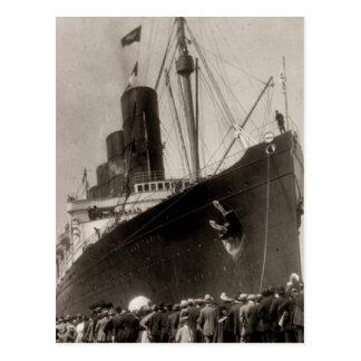 Maiden Voyage of RMS Lusitania, 13 Septemeber 1907 Postcard