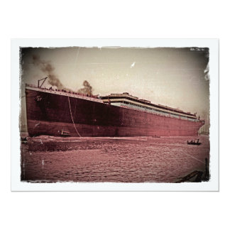 Maiden Voyage of RMS Titanic 5.5x7.5 Paper Invitation Card
