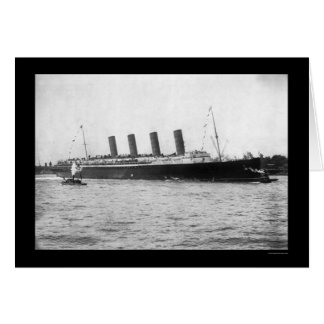 Maiden Voyage of the Lusitania 1907 Card