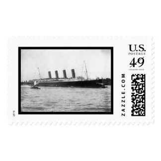 Maiden Voyage of the Lusitania 1907 Postage Stamp