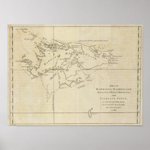 Maidenland de Hawkins, sonido de Malvinas Posters