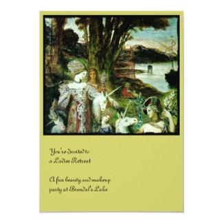 Maidens and Unicorns 5x7 Paper Invitation Card