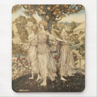 Maidens Around a Tree Mouse Pad