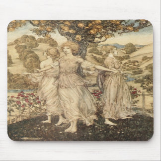 Maidens Around a Tree Mousepads